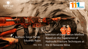Evolution of Panel Caving in Primary Ore