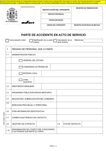 Parte de declaración de accidente