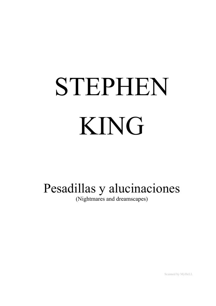 Pesadillas King Alucinaciones Stephen Y qMpzSUV