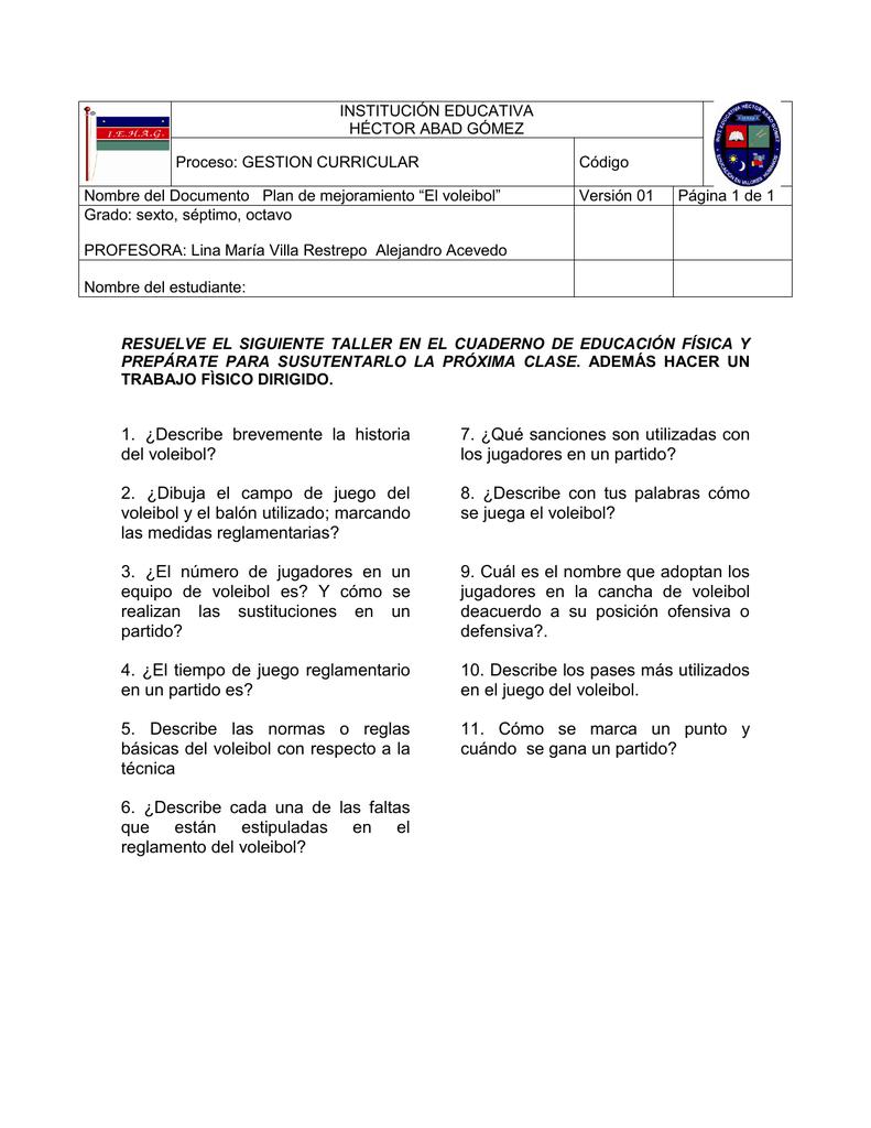 las normas del voleibol