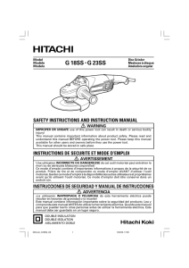 G 18SS • G 23SS - Hitachi Power Tools