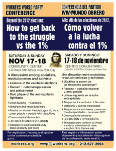 Cómo volver a la lucha contra el 1% How to get back to the struggle