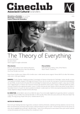 The Theory of Everything - Associació Cultural de Granollers