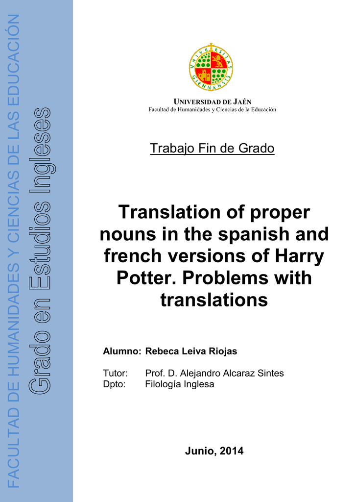 Version Final Tfg Tauja Translate durmstrang to english online and download now our free translation software to use at any time. studylib