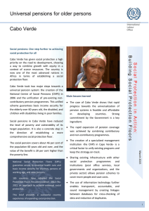 Country note: Cabo Verde. Universal pensions for older persons