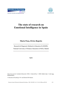 The state of research on Emotional Intelligence in Spain