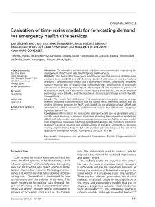 Evaluation of time-series models for forecasting