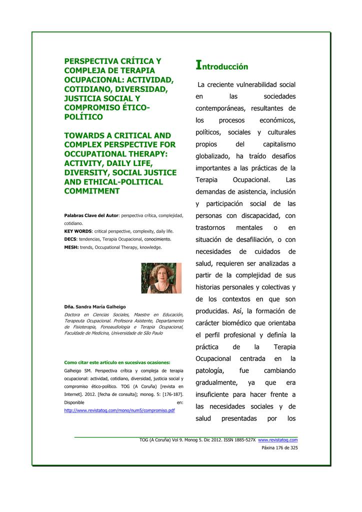 ART 7. SANDRA. terminado - Revista de Terapia Ocupacional Galicia