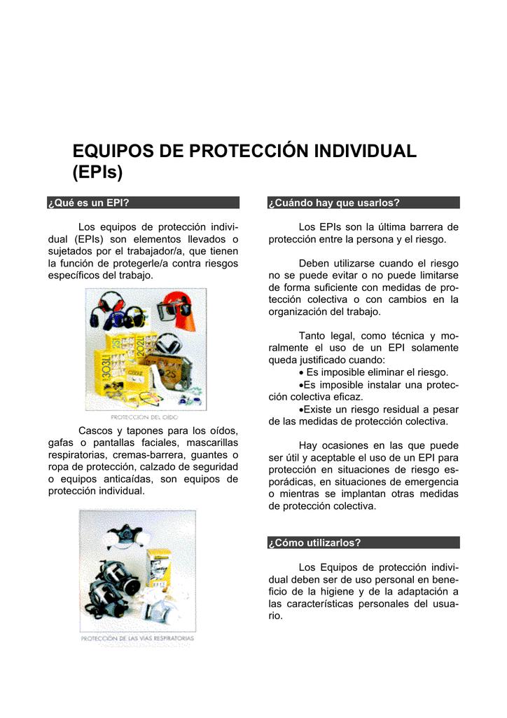 8f5f6ecd1e808 EQUIPOS DE PROTECCIÓN INDIVIDUAL (EPIs)