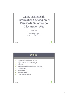 Casos prácticos de Information Seeking en el - E