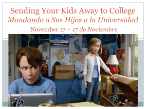 Sending Your Kids Away to College Mandar Sus Hijos a la
