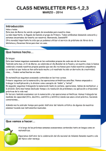 class newsletter pes-1,2,3 - European School The Hague