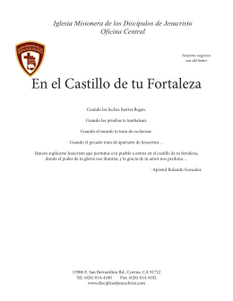 En el Castillo de tu Fortaleza - Missionary Church of the Disciples of