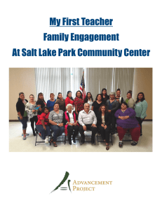 My First Teacher Family Engagement At Salt Lake Park Community