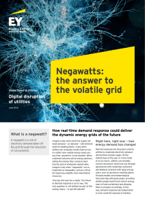 Negawatts: the answer to the volatile grid