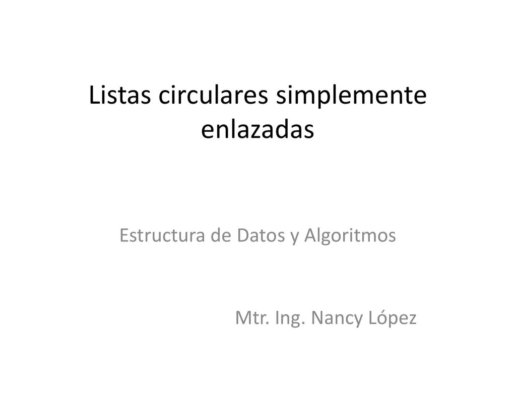 Listas Circulares Itsp