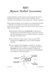 RMI [Remote Method Invocation]