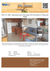 Apartment just a few steps from the beach in Playa del Inglés