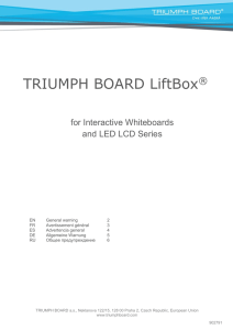 TRIUMPH BOARD LiftBox for Interactive Whiteboards and LED LCD