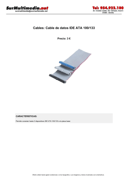 Cables: Cable de datos IDE ATA 100/133