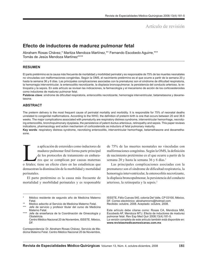 tensioactivos pulmones corticosteroides y diabetes