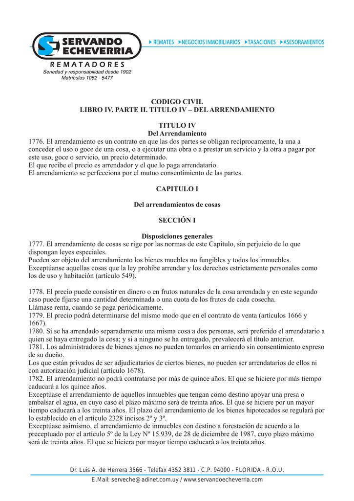 Código Civil Libro IV Parte II Título DEL