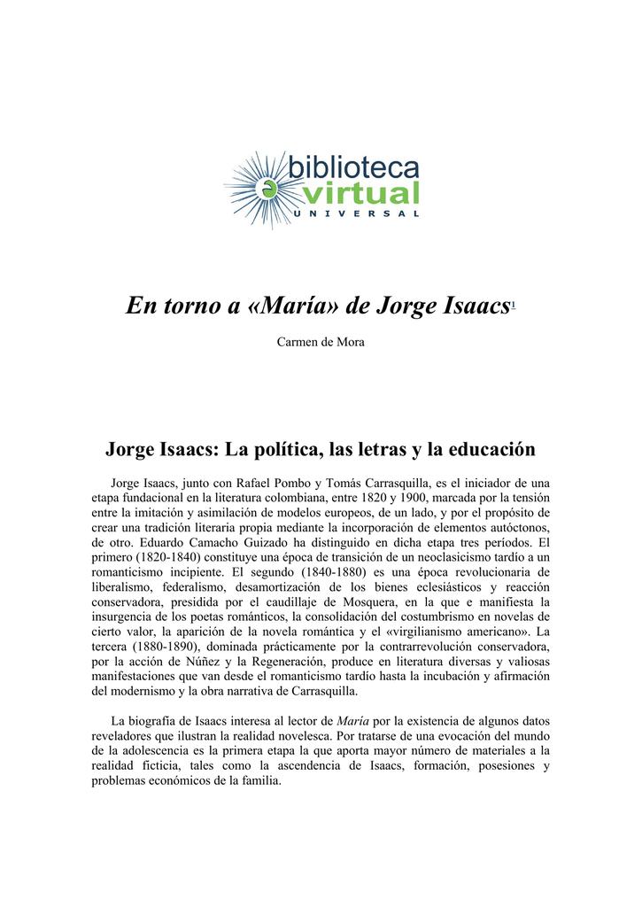En Torno A María De Jorge Isaacs1