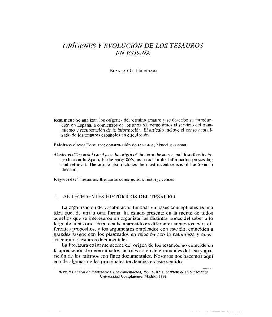Imprimir resumen - Revistas Científicas Complutenses