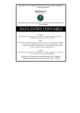 data entry contable