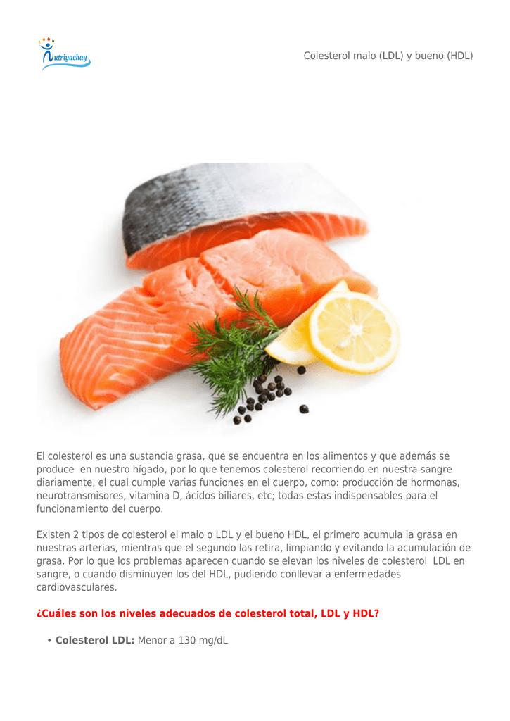 El colesterol malo y bueno