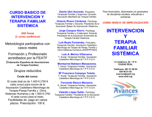 curso basico de intervencion y terapia familiar sistémica