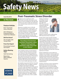 Post–Traumatic Stress Disorder - California State Compensation