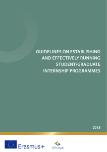 guidelines on establishing and effectively running student/graduate