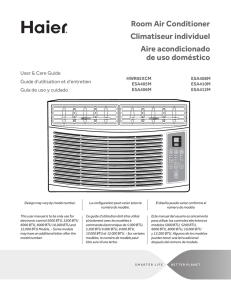Room Air Conditioner Climatiseur individuel Aire