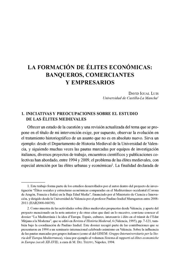 pdf La formación de élites económicas: banqueros, comerciantes y