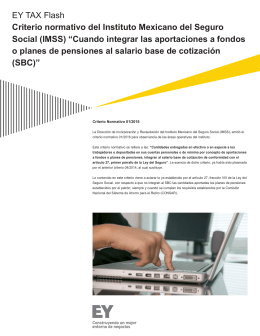 EY TAX Flash Criterio normativo del Instituto Mexicano del Seguro