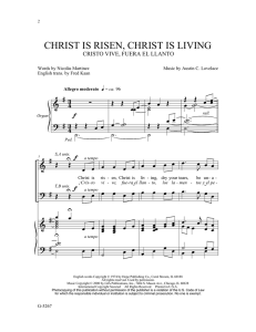 christ is risen, christ is living