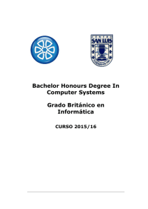 Bachelor Honours Degree In Computer Systems