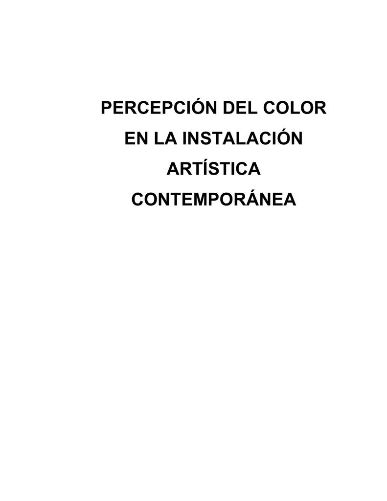percepción del color en la instalación artística