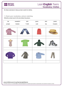 Vocabulary: Clothes - LearnEnglish Teens