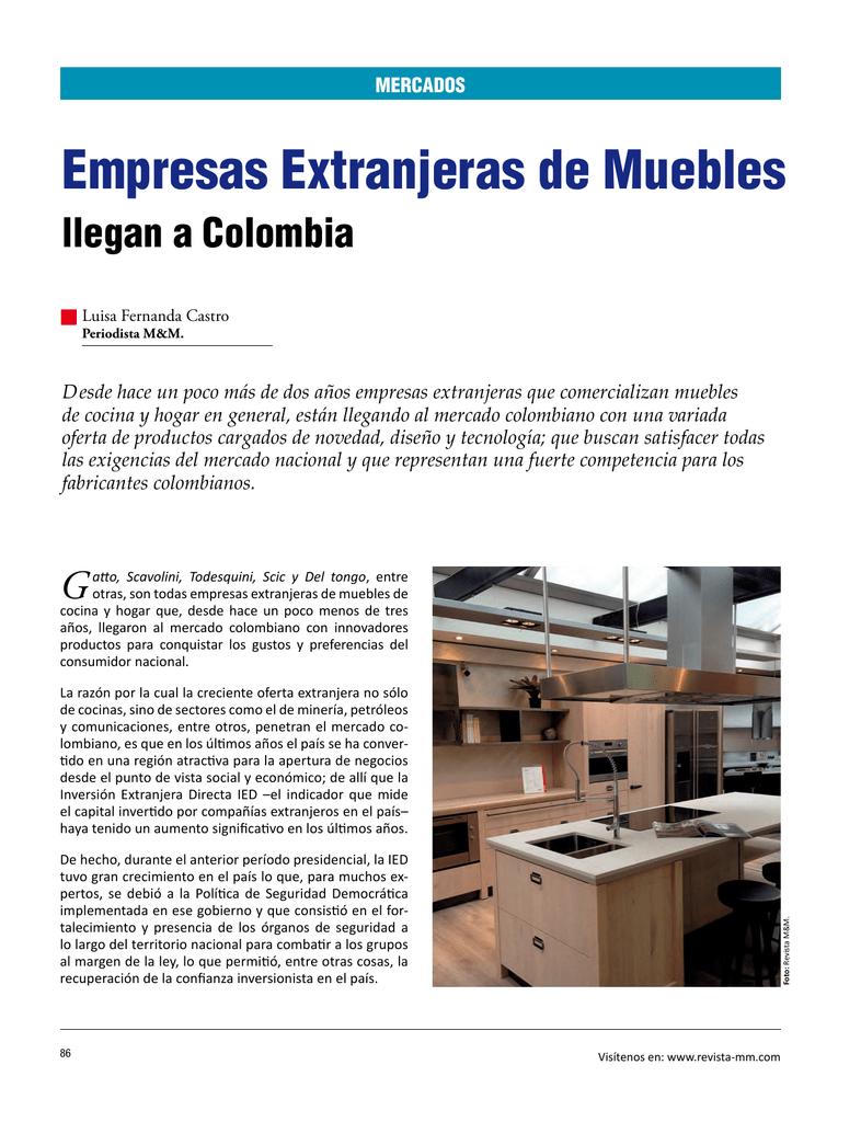 Empresas Extranjeras de Muebles
