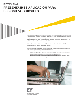 EY Tax Flash - Presenta IMSS aplicación para dispositivos móviles
