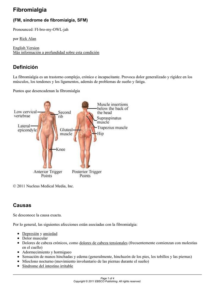 En dolor y manos de pies fibromialgia