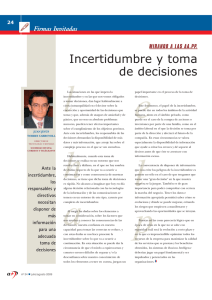 Incertidumbre y toma de decisiones
