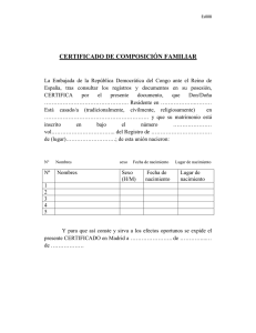 (Es008) CERTIFICADO DE COMPOSICIÓN FAMILIAR