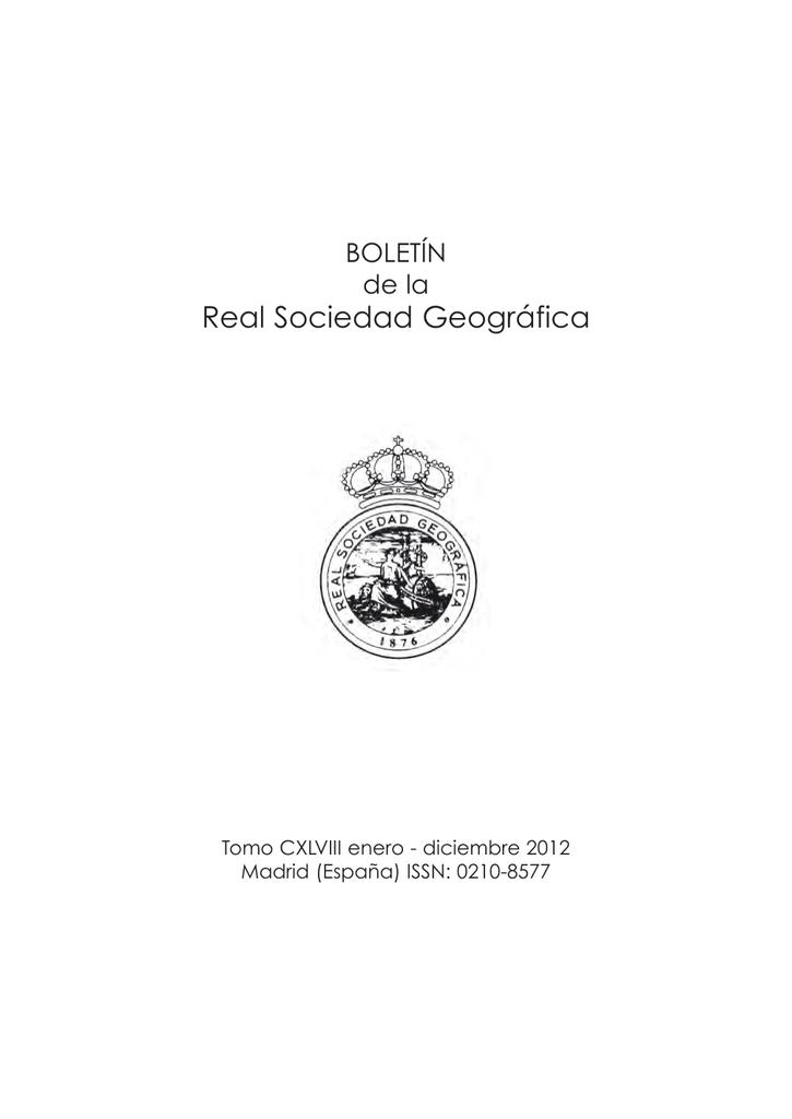 R. S. GEOGRAFICA.qxd - Real Sociedad Geográfica