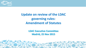 Review and amendment of the LDAC governing rules: alignment