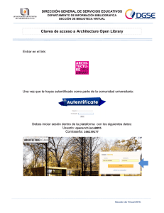 Claves de acceso a Architecture Open Library