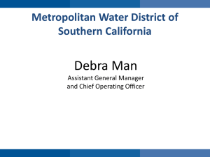 Debra Man - MWD or So Cal
