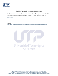 Noticia: Agenda de pares Acreditación Inst.